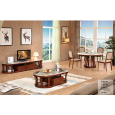 Modern design wood end table storage living room coffee table
