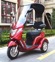 2017 three wheels electric trike scooter /tricycle with roof