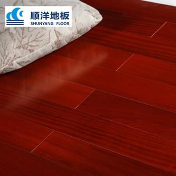 Shunyang Red Color Laminated Jatoba Wear Resisting Wood Flooring On Hot Ing