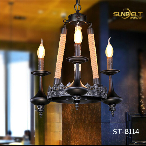 ST-8114-1 sunbelt modern lighting chandelier / creative DIY hemp rope lighting chandelier/ china hand made lighting