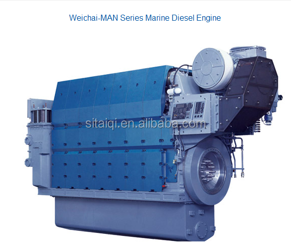 Weichai MAN Marine Diesel Engine with power 1290kw-9000kw