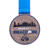 Kids sports religious medals 24k gold plating medal