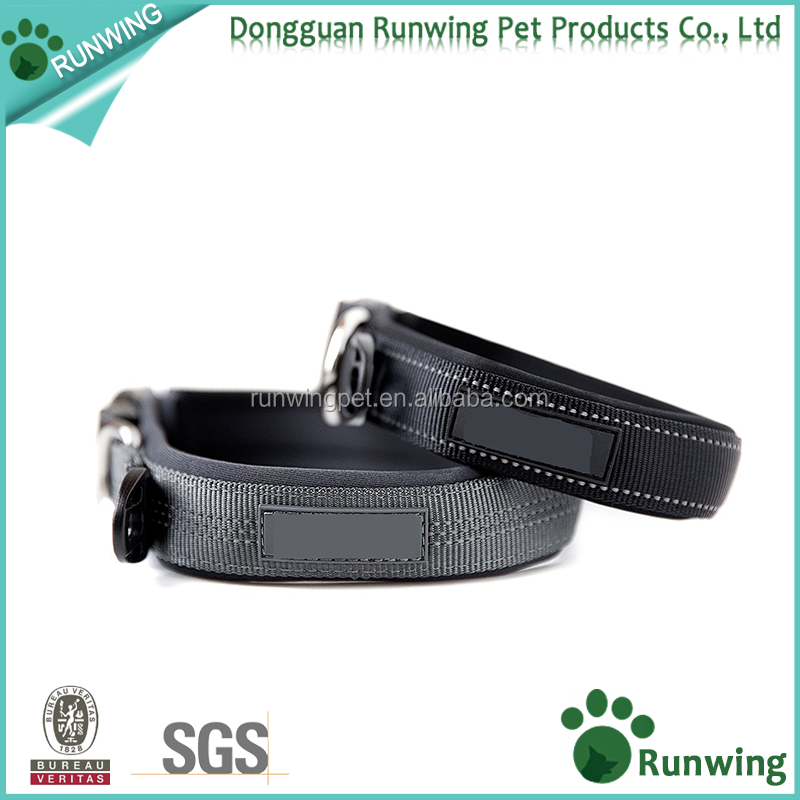 Premium Quality nylon running Sports Reflective Neoprene Padded Dog Collar