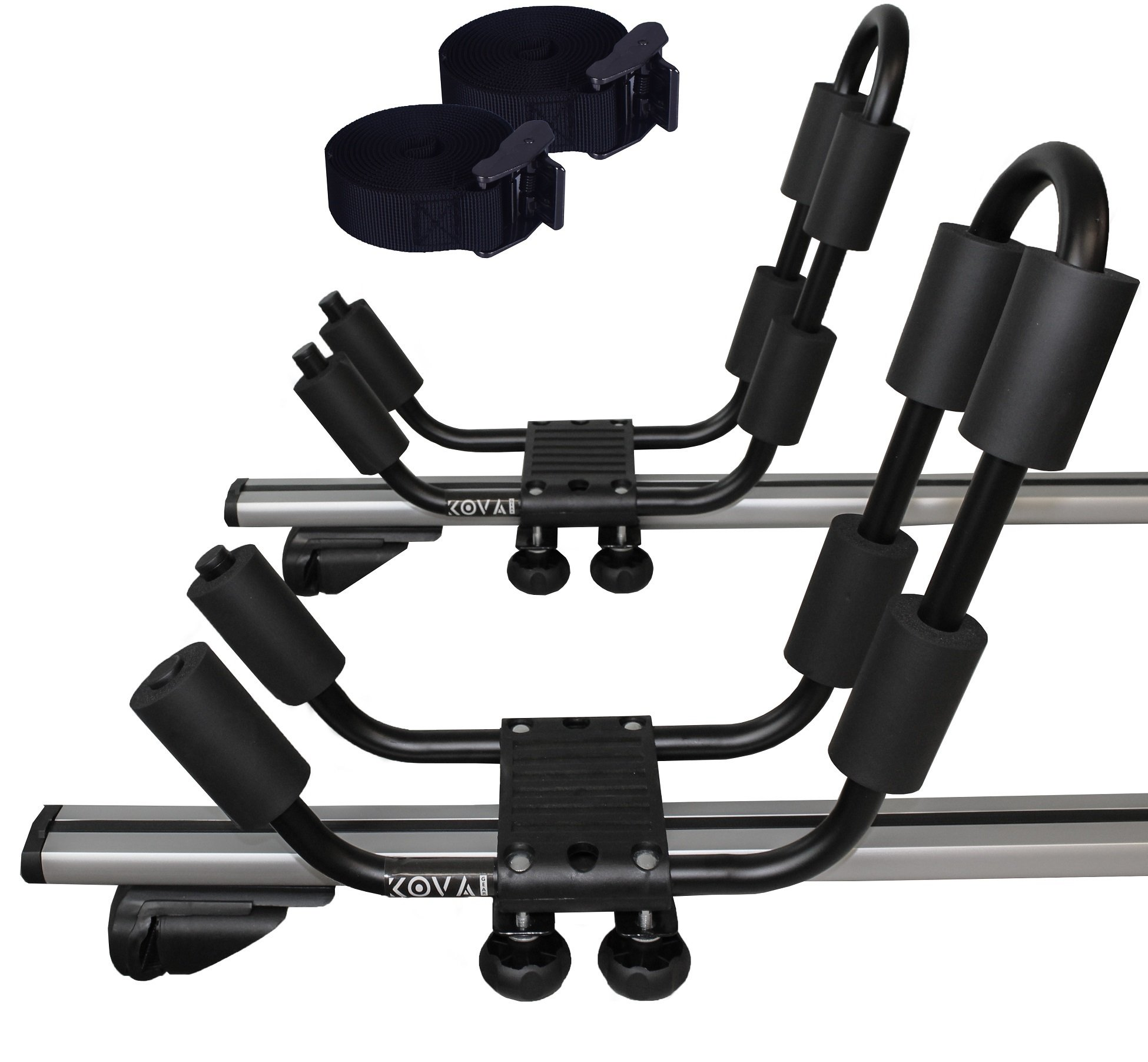 Kova Gear Set of 2 J Bar Kayak Roof Racks Adjustable w/ Easy Install