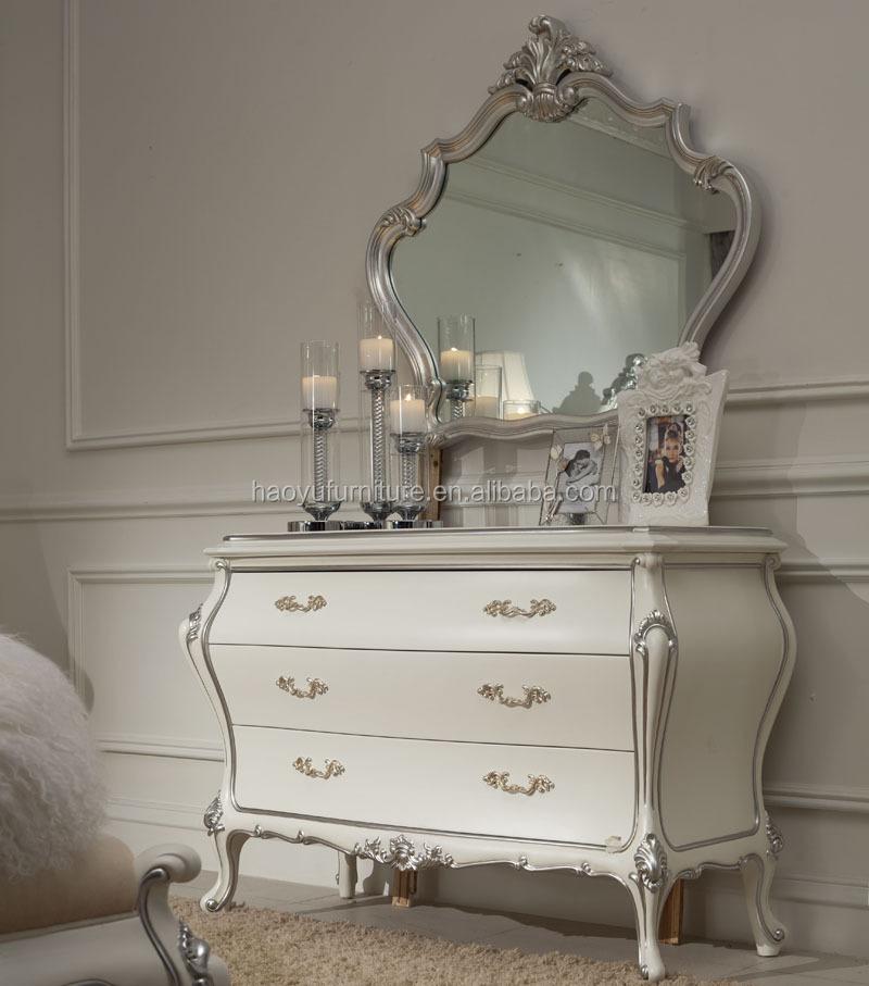 Sm05 vidrio espejo antiguo mueble tocador antiguo con espejo y