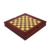 Travel Brown Wooden 7 In 1 Game Set: Chess, Backgammon, Checker, Poker Chips, Playing Cards