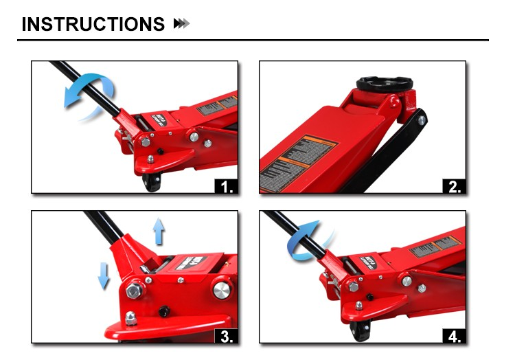 Tongrun Car Jack Service Jack 4ton Low Profile Quick Lifting T84008