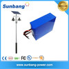 Customized solar storage battery rechargeable 26650 4S10P lifepo4 12v 30ah battery pack for solar street light