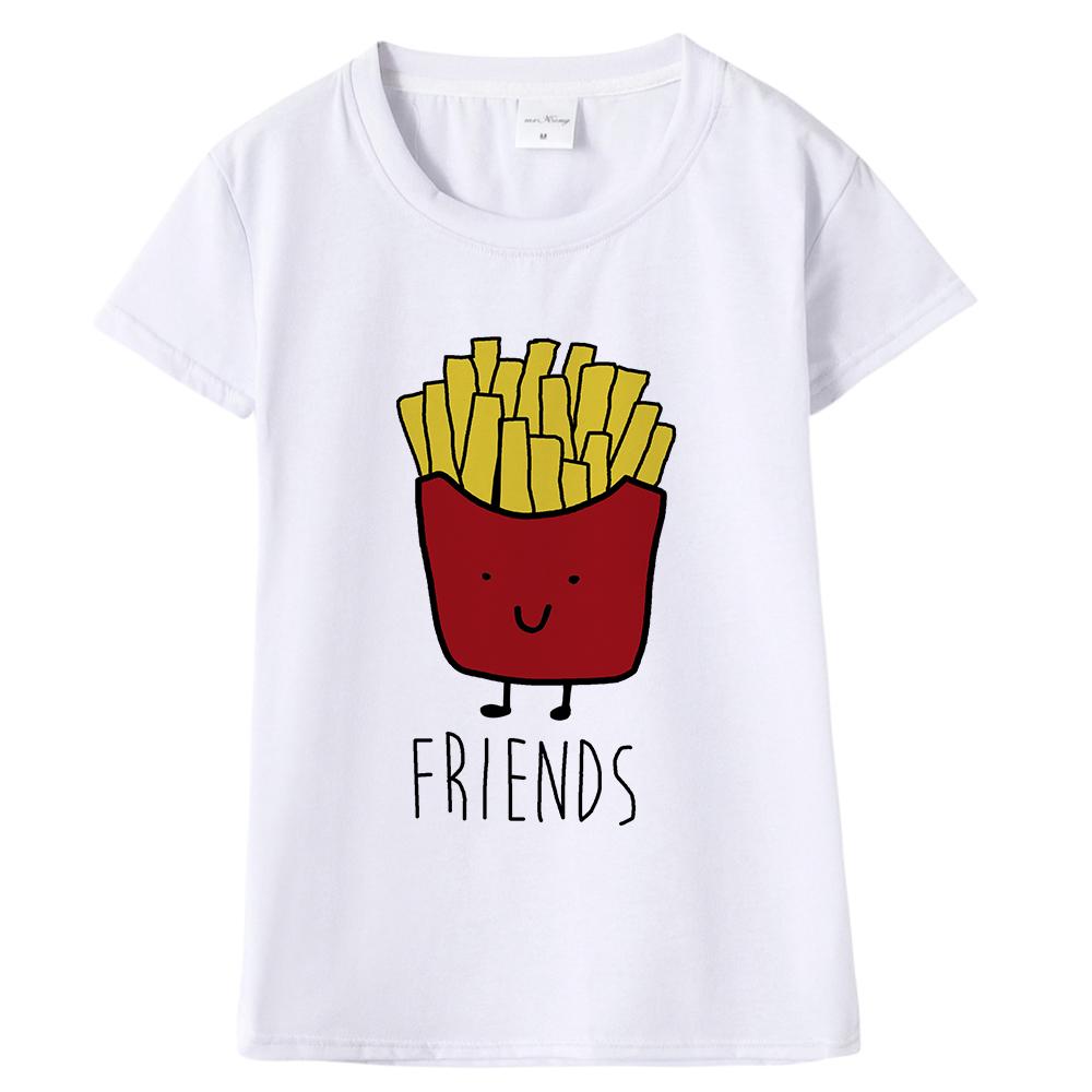 c3c7466e1 Camiseta divertida del mejor amigo del diseño que empareja la camiseta de BFF  Camiseta rápida femenina para el top del telar de Coon de Femme Hamburguesa  y ...