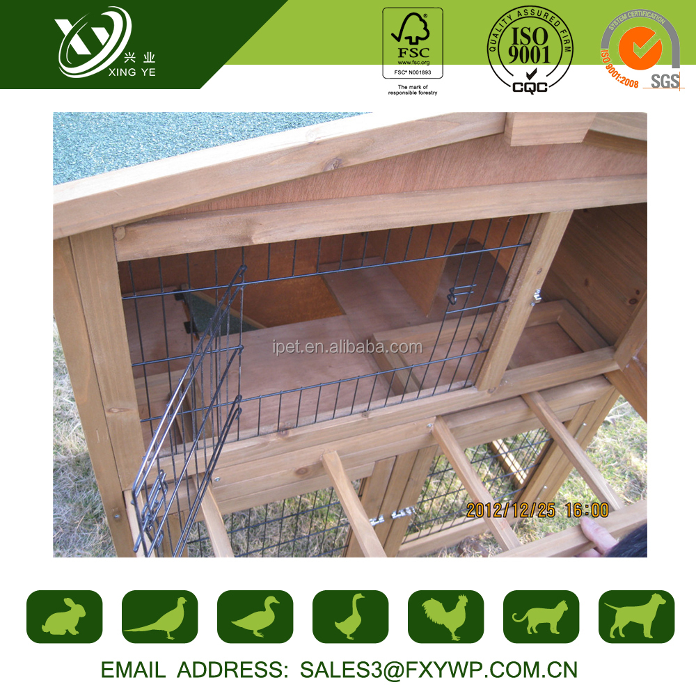 Unique design no poison keep warm large wooden rabbit nest box for outdoor use