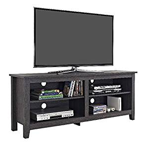 Get Quotations · TV Consoles For Flat Screens 60 Inch Entertainment Center    Media Stand Furniture 4 Storage Shelves