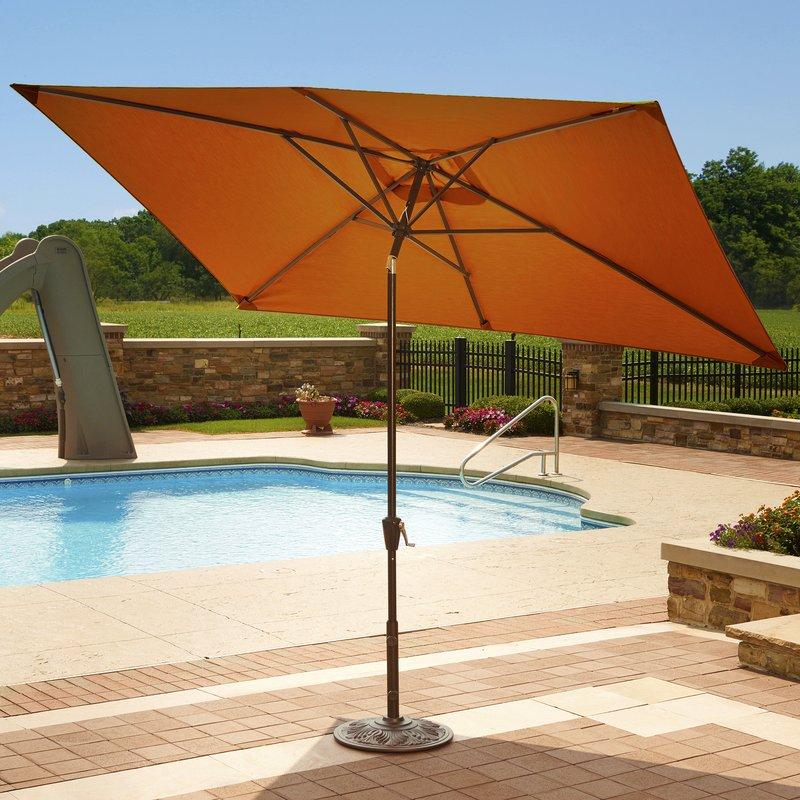 2.1x2.7m Square Patio Cantiliver Garden Umbrella Heavy Duty Outdoor  Umbrellas