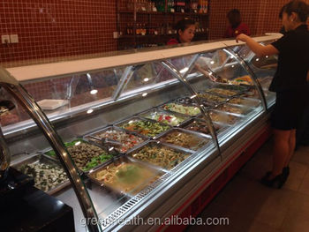 Dishes Glass Display Cabinet Used Commercial Food Warmer Showcase ...