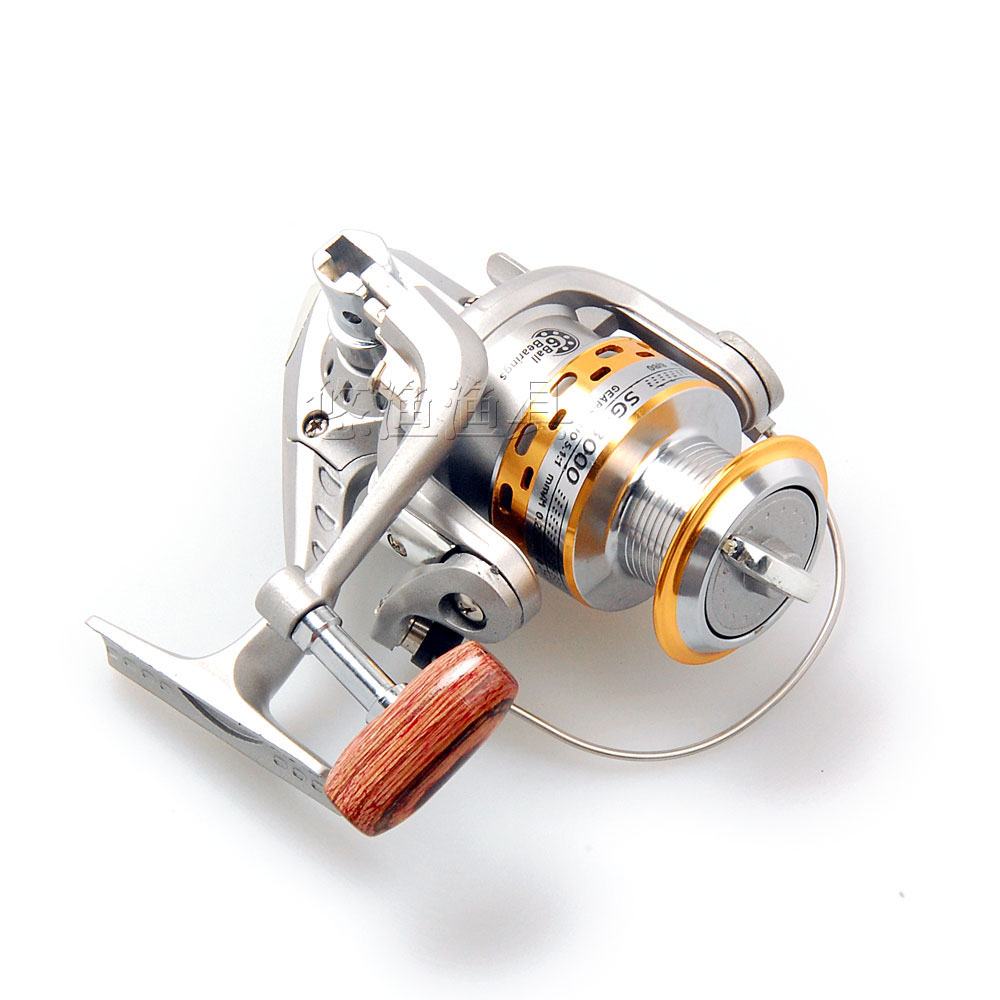 Free shipping Aluminum spool 6BB SG3000A spinning fishing reel spinning carp reels Cheap Fishing Spinning reel, As picture