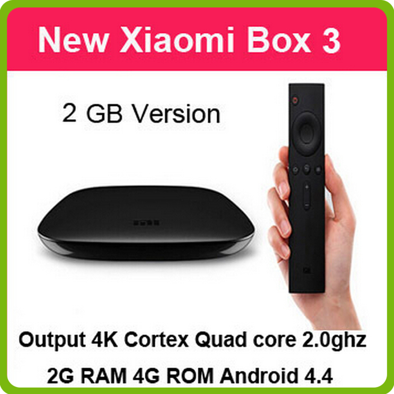Original New MIUI XIAOMI Box 2 Internet Airplay Miracast Dual Core A9 1.5GHZ Wifi BT 4.0 New Remote 2nd android Smart TV HD Box