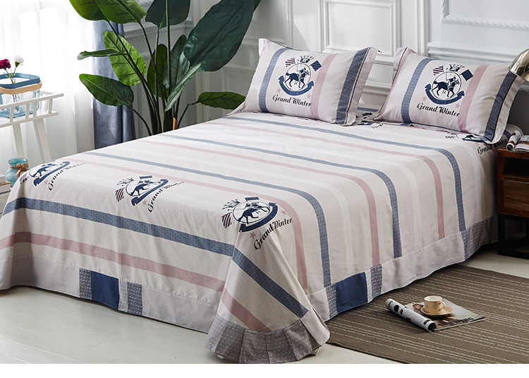OEM / ODM Bed Cotton Printed 2018 Sheet Home Art Bedding Bedsheets