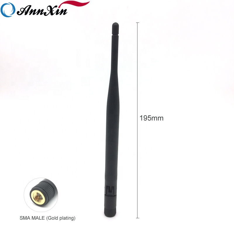 High Quality Gold plating SMA MALE Omni 2.4GHz 5dBi Wifi Duck <strong>Antenna</strong>