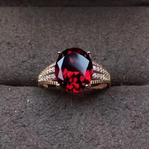 Mozambique Garnet S925 Silver Ring for Mother's Day Present Gift