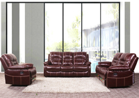 Top Grain Leather Reclining Wholesale Sofa Furniture China , Modern Sofa