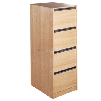 4 Drawer Wood Filing Cabinet Smart