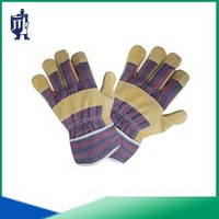 high quality pig split leather working gloves