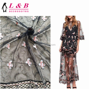 2018 new design embroidery machine made lace embroidery fabric white bridal embroidered tulle lace fabric