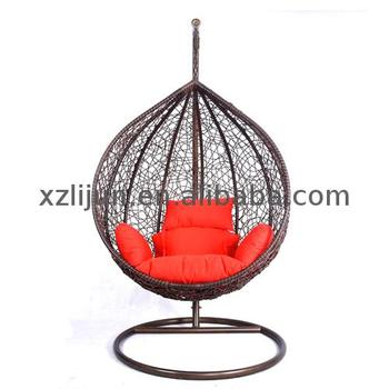 Wicker Outdoor Used Swingasan Metal Wooden Rattan Egg Hanging Chair