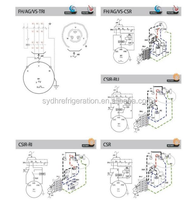 csir wiring diagram service handbook csir cscr csir type motor