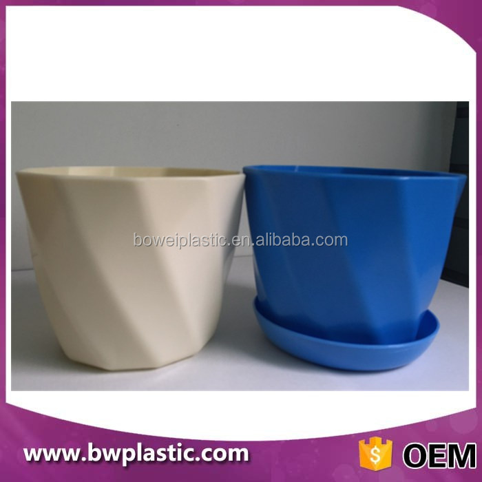 colorful &good looking costomized designs plastic flower pot, PP planter pot, plastic nursery pot Plastic Injection Mould
