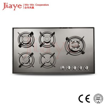 Easy to use camping gas stove / downdraft gas range / gas cooktop with grill JY-G5056