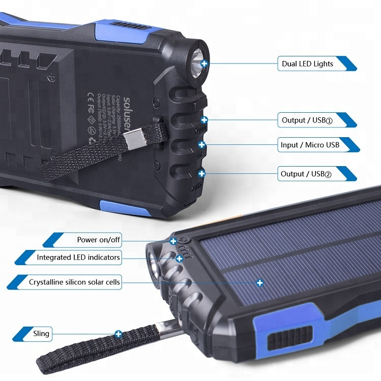 Companies Looking for Distributors Shenzhen Factory Waterproof Dual Usb Output Power Bank Solar Charging фото