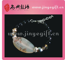 Handmade Chinese Agate Crystal Druzy Agate Bracelet