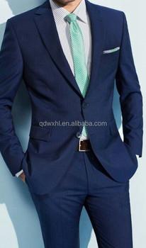 Hombre Azul Vestido De Italiano Traje Novia Oscuro Personalizado SOqgnww6