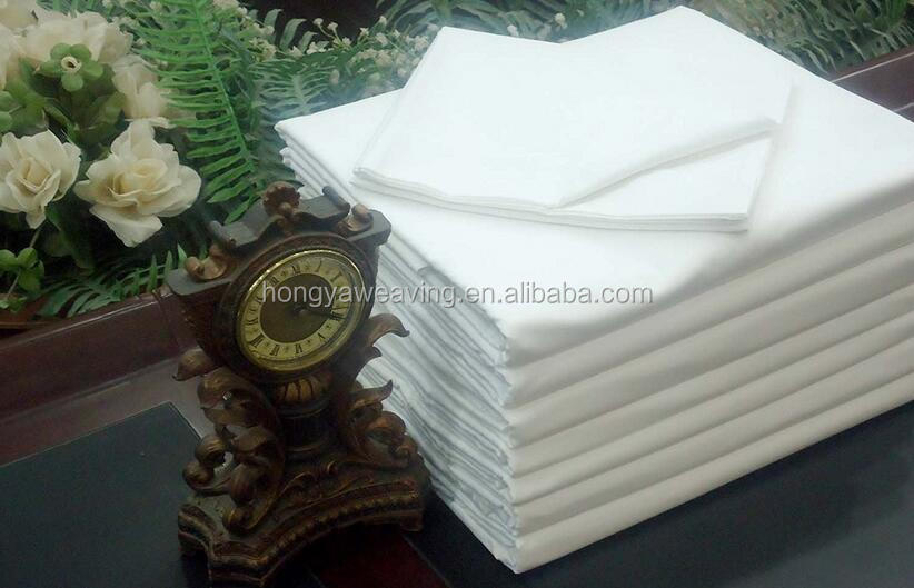 New White Flat Bed Sheet 180TC Percale Hotel Linen