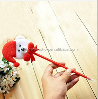 2014 cute red plastic ball pen for promotion gift, chritmas gift