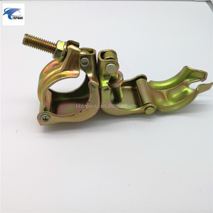 110 or 90 degrees scaffolding pressed swivel coupler
