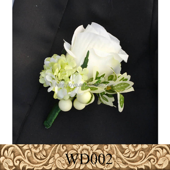Silk White Flower Prom Corsage Groom Corsage Prom Men Brooch