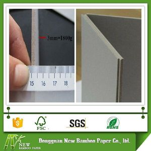Laminated 1mm 2mm 3mm mm and thickness gsm board paper grey