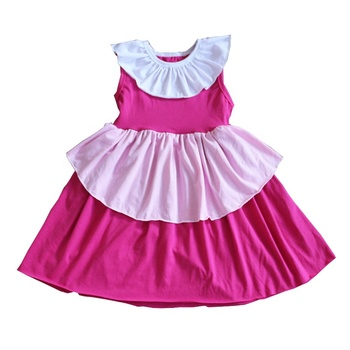 Children Boutique Soft Lace Dresses Wholesale Kids Ruffle Clothing New Design Lovely Girls Fashion Dress