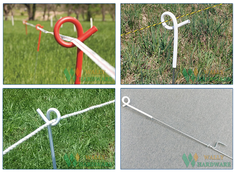 1.1m Temporary Pastures Grazing Zareba Pigtail Tread-in Electric Fence Post