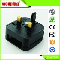 UK plug adapter Travel European 2 pin plug to UK 3 pin Travel Adapter Plug