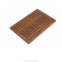 Luxury bamboo Bath Mat with Non Slip Feet Natural Mildew Resistance for a Hotel Bathmat Inside the Shower or on the Bathroom
