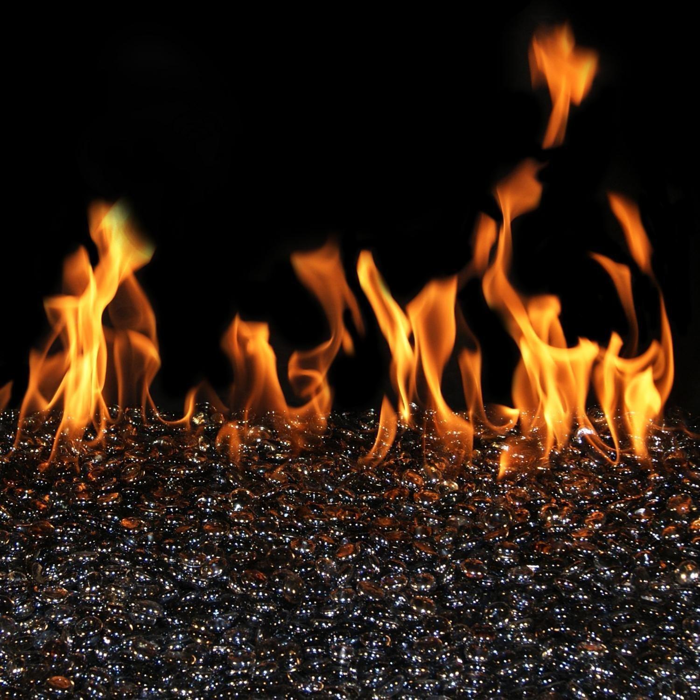 Peterson Real Fyre 24-inch Black Granite See-thru Fire Gem Set Vented Propane G45 Burner - Manual Safety Pilot