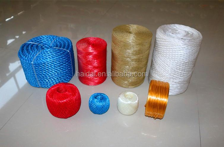 Plastic Polypropyleen PP raffia garen plastic verpakking touwen landbouw landbouw bindtouw extruder making machine voor verkoop