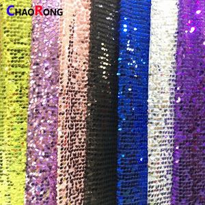 CRF0746 Fashion china fabric turkey sequin fabric golden black and white 9mm sequin fabric
