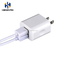 Wholesale top quality fast dual us eu uk au plug 5v 2a micro usb charger for iPhone Android