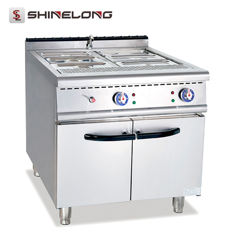China Fast food restaurant 700 Series Electric Bain Marie With Cabinet