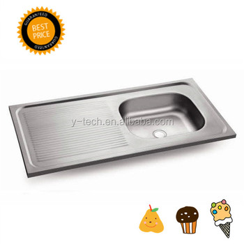 Above Counter Kitchen Sink Stainless Steel Kitchen Sink With Drain Board  Kitchen Sink With Single Bowl Yk1052r   Buy Above Counter Kitchen ...