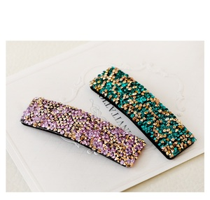 New Arrival Colored Rhinestone Hairpin BB Clip Glitter Hair Clips Wholesale