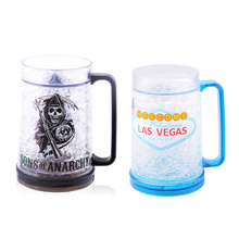 Attractive Price Cold Magic Clear Plastic Double Wall Gel Freezer Mug